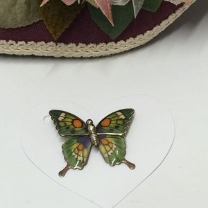 Gorgeous Vintage Butterfly Brooch or Pendant